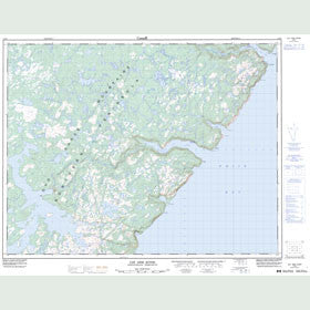 Canadian Topo Map - Cat Arm River - Map 012I02