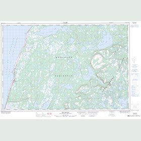 Canadian Topo Map - Bellburns - Map 012I06