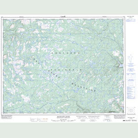 Canadian Topo Map - Soufflets River - Map 012I07