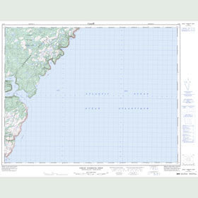 Canadian Topo Map - Great Harbour Deep - Map 012I08