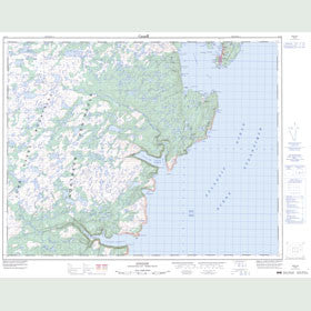 Canadian Topo Map - Englee - Map 012I09