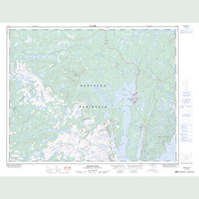 Canadian Topo Map - Roddickton - Map 012I16