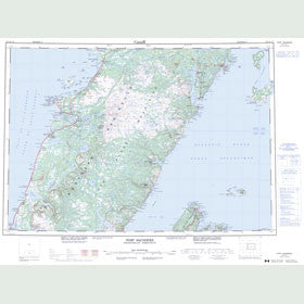 Canadian Topo Map - Port Saunders - Map 012I