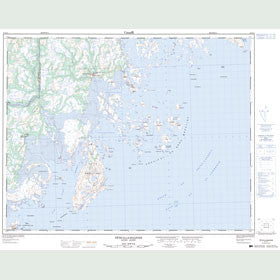 Canadian Topo Map - Tête-à-la-Baleine - Map 012J11