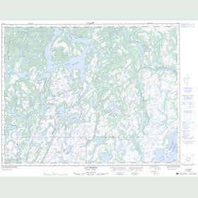 Canadian Topo Map - Lac Triquet - Map 012J12