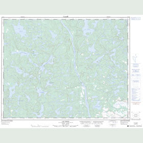 Canadian Topo Map - Lac Nesle - Map 012J13