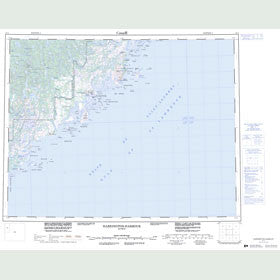 Canadian Topo Map - Harrington Harbour - Map 012J