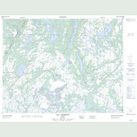 Canadian Topo Map - Lac Paimpont - Map 012K05