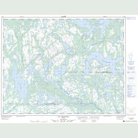 Canadian Topo Map - Lac Kégashka - Map 012K06