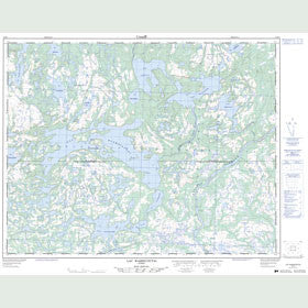 Canadian Topo Map - Lac Washicoutai - Map 012K07