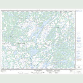 Canadian Topo Map - Lac Coacoachou - Map 012K08
