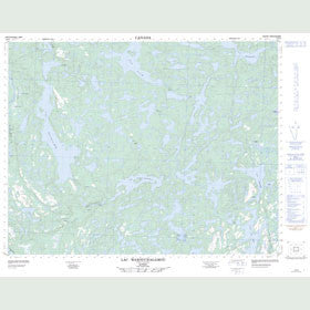 Canadian Topo Map - Lac Wabouchagamou - Map 012K09