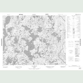 Canadian Topo Map - Lac Cauchy - Map 012K10