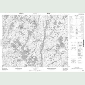 Canadian Topo Map - Lac Victor - Map 012K12