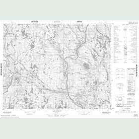 Canadian Topo Map - Lac Rancin - Map 012K13