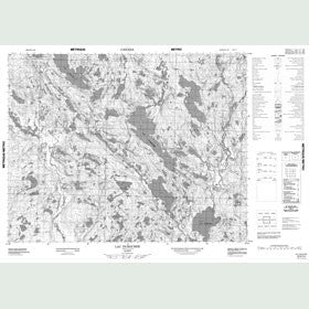 Canadian Topo Map - Lac Durocher - Map 012K14