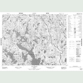 Canadian Topo Map - Lac Goyelle - Map 012K15