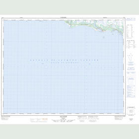 Canadian Topo Map - Aguanish - Map 012L01