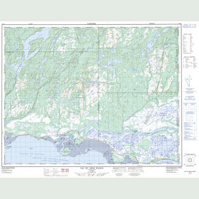 Canadian Topo Map - Lac du Gros Diable - Map 012L05