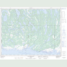 Canadian Topo Map - Baie-Johan-Beetz - Map 012L07