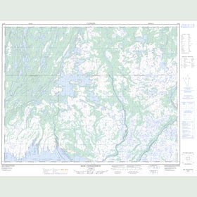 Canadian Topo Map - Baie Pashashibou - Map 012L08
