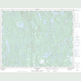 Canadian Topo Map - Lac Michaud - Map 012L09