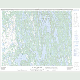 Canadian Topo Map - Lac de la Robe Noire - Map 012L10