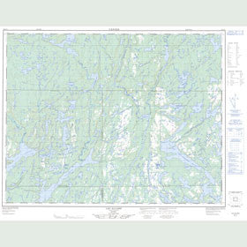 Canadian Topo Map - Lac-Allard - Map 012L11