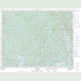 Canadian Topo Map - Lac Cugnet - Map 012L12