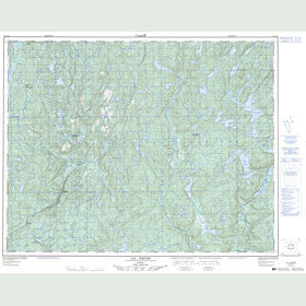 Canadian Topo Map - Lac Jérôme - Map 012L13