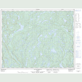 Canadian Topo Map - Lac Gaudreault - Map 012L16