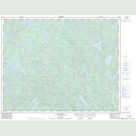 Canadian Topo Map - Lac Ruffin - Map 012M02