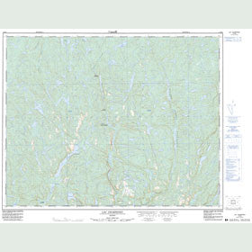 Canadian Topo Map - Lac Charpeney - Map 012M04