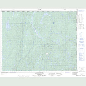 Canadian Topo Map - Lac Coupeaux - Map 012M05