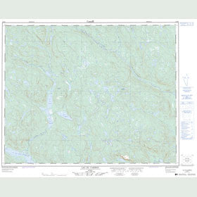 Canadian Topo Map - Lac du Caribou - Map 012M09