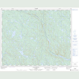 Canadian Topo Map - Lac Ripault - Map 012M10