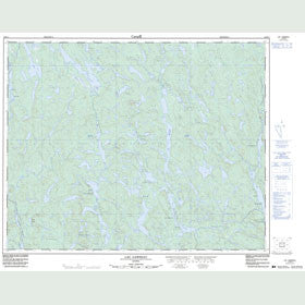 Canadian Topo Map - Lac Garneau - Map 012M11