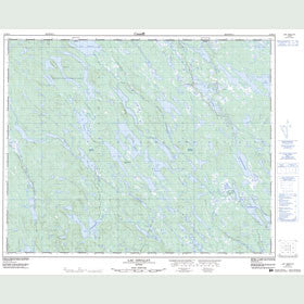 Canadian Topo Map - Lac Goullay - Map 012M14