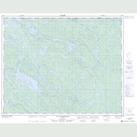 Canadian Topo Map - Lac de Morhiban - Map 012M15