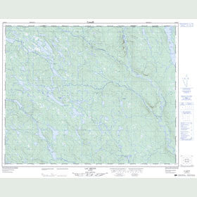 Canadian Topo Map - Lac Bégon - Map 012M16