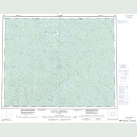 Canadian Topo Map - Lac de Morhiban - Map 012M