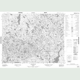 Canadian Topo Map - Lac du Gas - Map 012N01