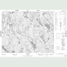 Canadian Topo Map - Lac Bohier - Map 012N03
