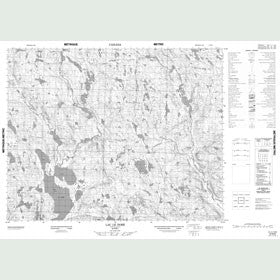 Canadian Topo Map - Lac le Doré - Map 012N06