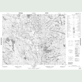 Canadian Topo Map - Lac Lorens - Map 012N07