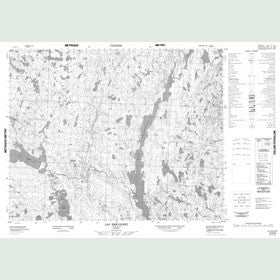 Canadian Topo Map - Lac Briçonnet - Map 012N08