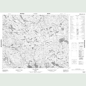 Canadian Topo Map - Lac le Tort - Map 012N10