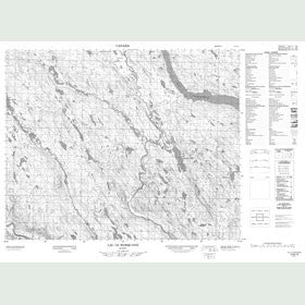 Canadian Topo Map - Lac le Marquand - Map 012N13