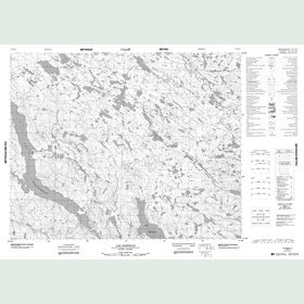 Canadian Topo Map - Lac Bastille - Map 012N14