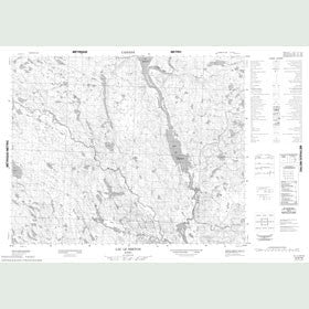 Canadian Topo Map - Lac le Breton - Map 012N16